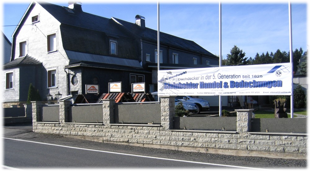 Firmengebäude Dachdecker Steinheider Handel & Bedachungen